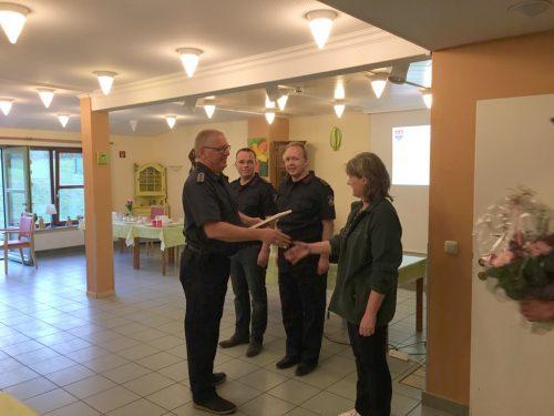 Urkunde für über 9 Jahre kontinuierliche Brandschutzaufklärung
